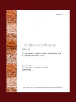 Transferable Enterprise Value - The importance of quantifying intangible value drivers in small to medium size enterprises