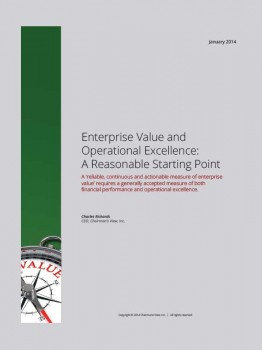 Enterprise Value and Operational Excellence - A Reasonable Starting Point